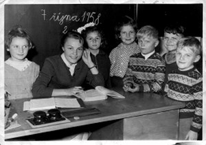 Fotografie třídy ze 7. října 1958